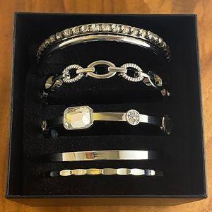 Christopher and Banks silver tone bracelet set